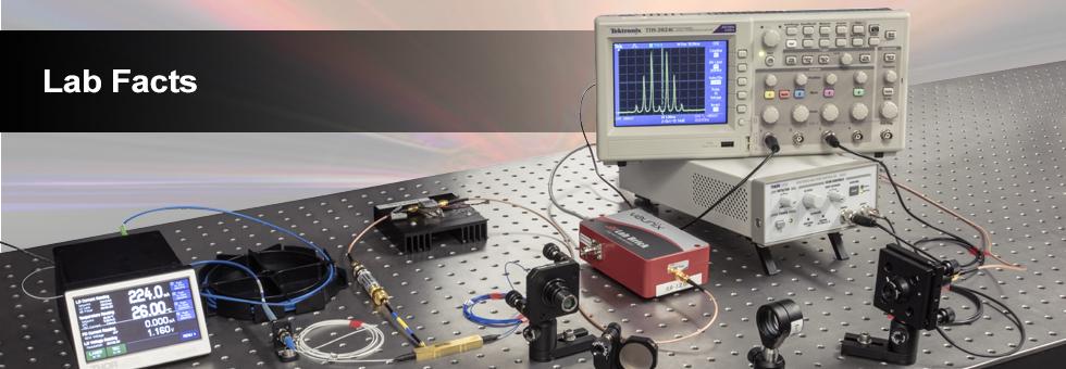 ファイバ結合型電気光学(EO)変調器に関する実験データ