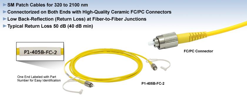 Single Mode FC/PC Fiber Optic Patch Cables