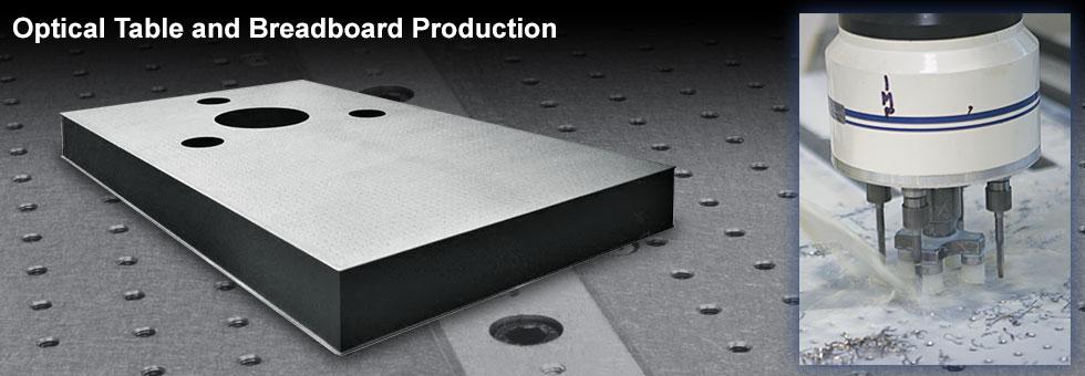 光学テーブルとブレッドボードの製造技術