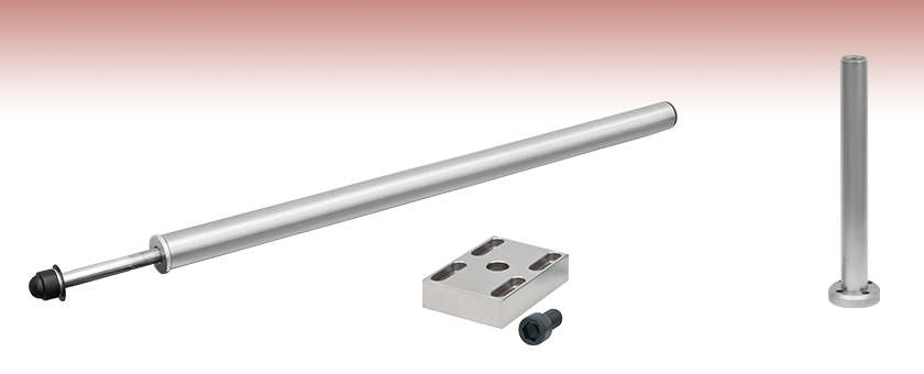 5 Space Rail Track Support Steel Poles 300mm