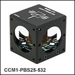 ケージキューブ付きレーザーライン用偏光ビームスプリッターキューブ