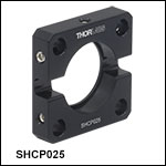 取付けアダプタ、開口Ø6.4 mm(Ø1/4インチ)ダイヤフラムシャッタ用