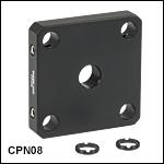 Ø5 mm~Ø20 mmマウント無し光学素子用30 mmケージプレート(単品)