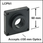 SM30内ネジおよび顕微鏡取付け用アリ溝付きケージシステム、Ø30 mm光学素子用
