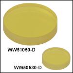 フッ化カルシウム(CaF<sub>2</sub>)ウェッジウィンドウ、ARコーティング:1.65~3.0 µm