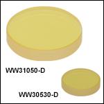 サファイアウェッジウィンドウ、ARコーティング: 1.65 - 3.0 µm