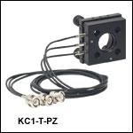 30 mmケージシステム用キネマティックマウント、ピエゾ駆動アジャスタ付き