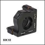 ミニシリーズキネマティックミラーマウント、Ø10 mm光学素子用