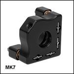 ミニシリーズキネマティックミラーマウントØ7 mm光学素子用