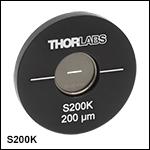 Ø25.4 mm(Ø1インチ)マウント付き光学スリット