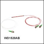 波長分割多重(WDM)カプラ、1550 nm /2000 nm