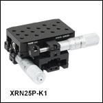 組み立て済み2軸および3軸小型ステージ、マイクロメータ側面搭載型