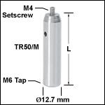Ø12.7 mmステンレス製ポスト(ミリ規格)