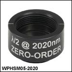Ø12.7 mm(Ø1/2インチ)ゼロオーダ1/2波長板、SM05マウント付き