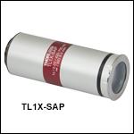 スーパーアポクロマートテレセントリック対物レンズ、波長板付き
