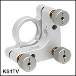 真空対応Ø25 mm~Ø25.4 mm(Ø1インチ)光学素子用キネマティックミラーマウント、SMネジ付き