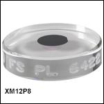 Ø8 mm平面結晶ミラー、25.4 mm基板