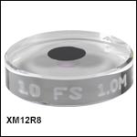 Ø8 mm凹面結晶ミラー、25.4 mm基板