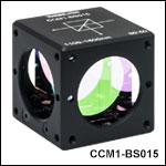 マウント付き偏光無依存型ビームスプリッターキューブ、分岐比50:50