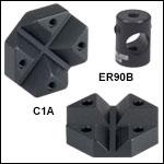 ERシリーズロッド用クロスカプラ、30 mmおよび60 mmケージシステム用