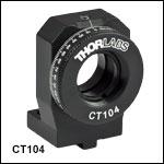 Ø12 mm~Ø12.7 mm(Ø1/2インチ)光学素子用回転マウント