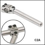 ERロッド用スイベル式カプラ、30 mmおよび60 mmケージシステム用