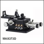 シングルモードファイバ素線入射システム、自動アライメント