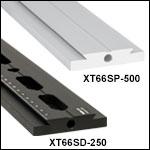 XT66シリーズ 66 mm片面アリ溝付きレール