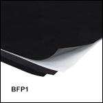 黒色フロック加工紙、接着剤付き