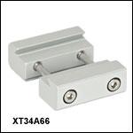 34 mm-66 mm 光学レール用両面アリ溝式アダプタークランプ
