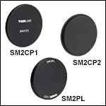 Ø50 mm~Ø50.8 mm(Ø2インチ)レンズチューブ用エンドキャップ&プラグ
