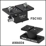 多軸フレクシャーステージ用アクセサリ:軸方向力センサ(接触センサ)プラットフォーム