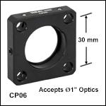 標準型ケージプレート、Ø25 mm~Ø25.4 mm(Ø1インチ)光学素子用