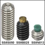 #8-32止めネジ、ステンレススチール製または合金銅製