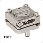 あおり調整(チップ&チルト)と回転機能付きキネマティックマウント