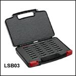 マウント付きN-BK7 Ø25.4 mm(Ø1インチ)平凸レンズ&両凸レンズキット