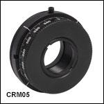 Ø12 mm~Ø12.7 mm(Ø1/2インチ)光学素子用SM1ネジ付き連続回転マウント