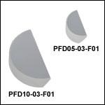 UV域強化型アルミニウムD型ミラー、250~450 nm
