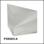 N-BK7直角プリズム、斜面ARコーティング付き