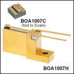 偏光依存型半導体光増幅器(BOA)チップ