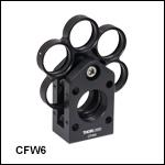 30 mmケージフィルターホイール、Ø25 mm~Ø25.4 mm(Ø1インチ)フィルタ用