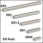 ERシリーズ アセンブリロッド、30 mmおよび60 mmケージシステム用