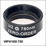 Ø25.4 mm(Ø1インチ)ゼロオーダ1/2波長板、SM1マウント付き