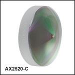 円錐(アキシコン)レンズ、ARコーティング付き:1050~1700 nm