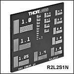 NBS 1963A分解能(解像度)テストターゲット、50.8 mm x 50.8 mm