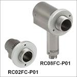 FC/PCコネクタ付き反射型コリメータ、保護膜付き銀コーティング