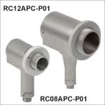 FC/APCコネクタ付き反射型コリメータ、保護膜付き銀コーティング