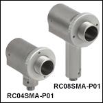 SMAコネクタ付き反射型コリメータ、保護膜付き銀コーティング
