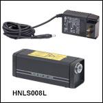 電源内蔵型HeNeレーザ、632.8 nm、0.8 mW