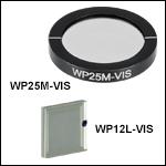 可視域ワイヤーグリッド偏光子、420~700 nm
